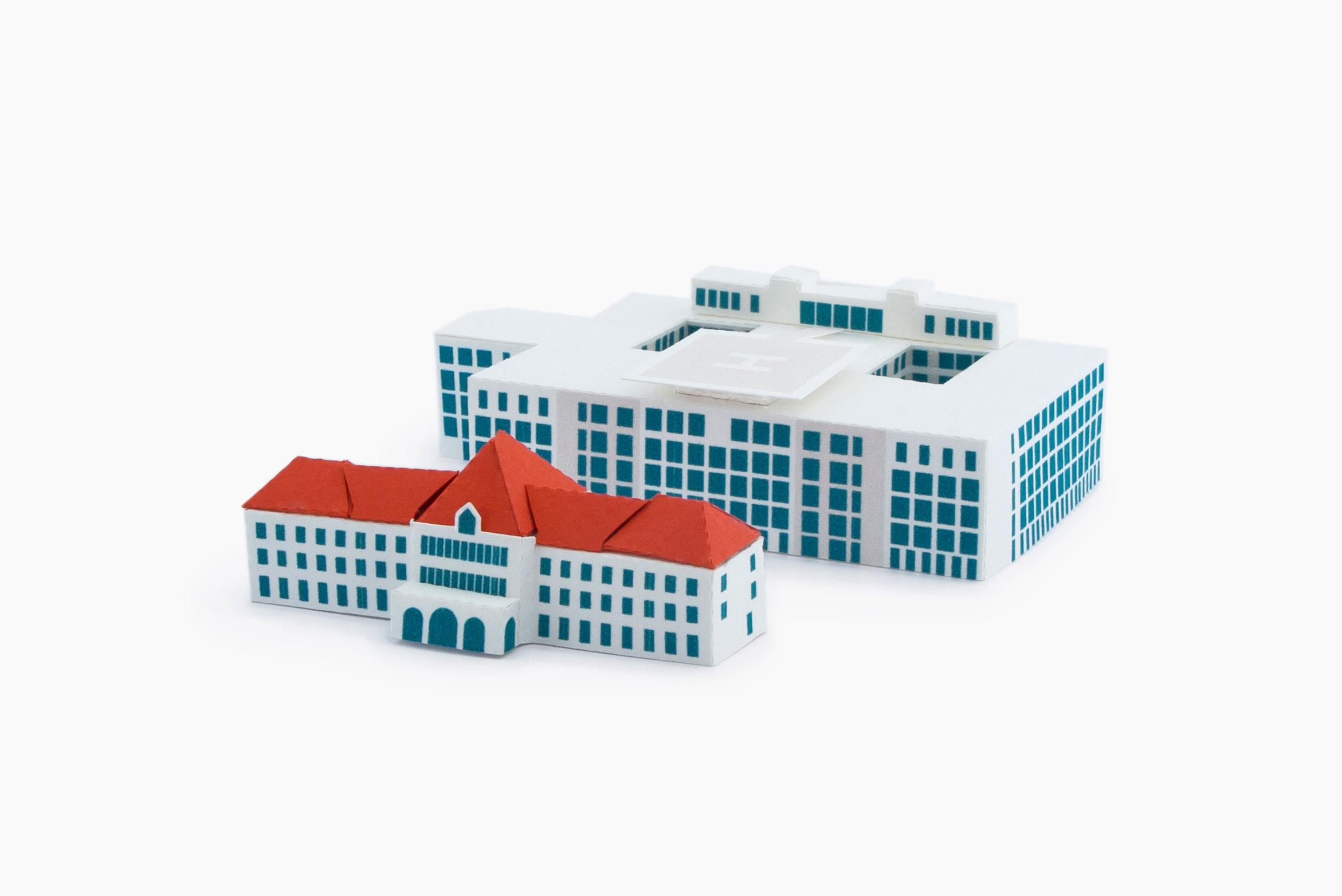 Miniaturnachbildung der München Klinik Schwabing