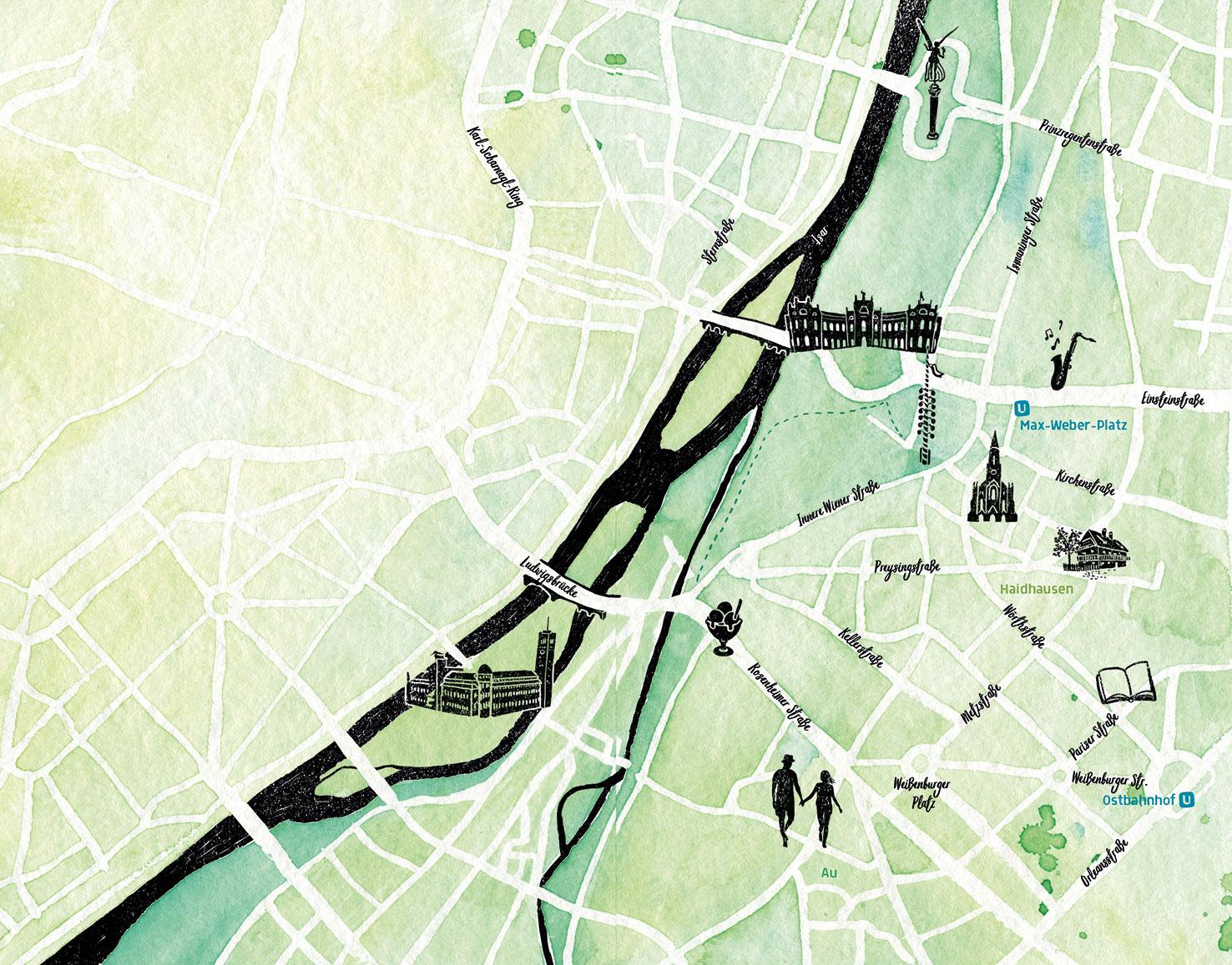 Stadtplan Haidhausen