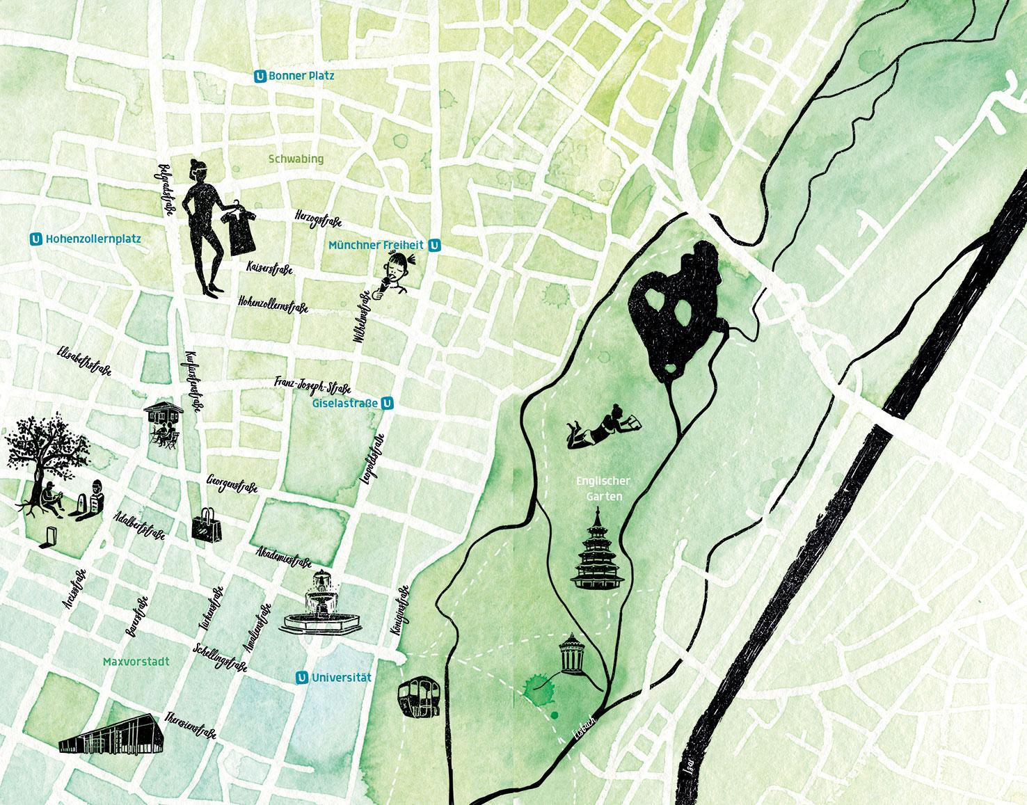 Stadtplan Schwabing